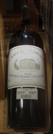 Chateau Margaux 2002 (Magnum) at Fortnum and Mason