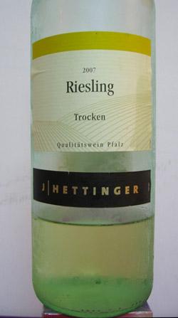 J Hettinger Riesling Trocken 2007